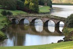 Palladian Bridge. A view of the Palladian Bridge in Stourhead Garden, England Royalty Free Stock Photo