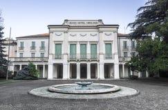 Palladio di Abano Terme, Italia - 24 dicembre 2017: Grande hotel Orologi Fotografie Stock