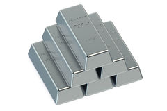 Palladium ingots Stock Photos