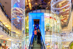 Palladium mall decorated for Christmas. Royalty Free Stock Photo