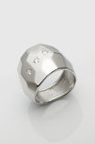 Palladium/ Platinum ring Stock Photo