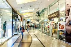 Palladium shopping center interior view. Royalty Free Stock Photos