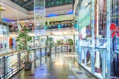 Palladium shopping center interior view in Prague. Royalty Free Stock Photography