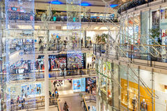 Palladium shopping center in Prague decorated for Christmas. Stock Image