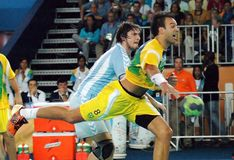 Pallamano - Pan American Games 2007 immagine stock libera da diritti