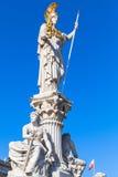 Pallas雅典娜喷泉,奥地利议会 免版税库存图片