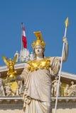 Pallas雅典娜纪念碑在维也纳 免版税图库摄影