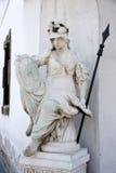 Pallas雅典娜雕象在布达佩斯,匈牙利 库存照片