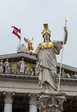 Pallas Athena, Austrian Parliament building. Stock Images