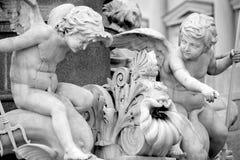 Pallas-Athena-Brunnen Fountain, Austrian Parliament in Vienna, A Stock Image