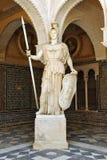Pallas Athena, marble sculpture, Palace House of Pilate, Sevilla, Spain Stock Photos