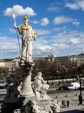 Pallas Athena overlooking Vienna Royalty Free Stock Images