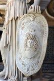 Pallas Athena, sculpture romaine, Chambre de palais de Pilate, Séville, Espagne Photo stock