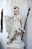 Pallas Athena statue in Budapest, Hungary Stock Photos