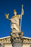 Pallas Athena statue near Austrian Parliament in Vienna Royalty Free Stock Images