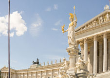 Pallas Athena statue, Vienna, Austria Royalty Free Stock Photo