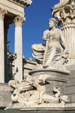 Pallas Athene Fountain in front of parliament (detail) Stock Images