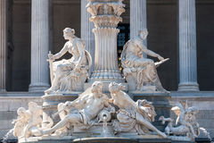 Pallas Athene fountain in Vienna Stock Photo