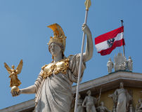 Pallas Athene in front of austrian parliament Stock Images
