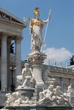 Pallas Athene in front of austrian parliament Stock Image