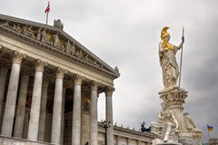Pallas Athene in front of austrian parliament Stock Photos