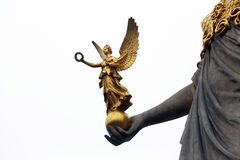 Pallas Athene Greek goddess of wisdom in front of Austrian parliament, Vienna. Austria stock photos