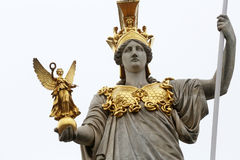 Pallas Athene Greek goddess of wisdom in front of Austrian parliament, Vienna. Austria royalty free stock photography