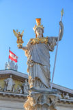 Pallas Athene. The Pallas athene statue in front of the austrian parliament in vienna/ austria Stock Image