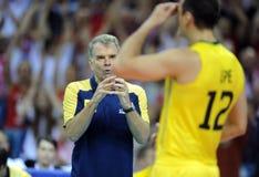 Pallavolo di FIVB Polonia Brasile Immagini Stock Libere da Diritti