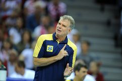Pallavolo di FIVB Polonia Brasile Fotografia Stock Libera da Diritti