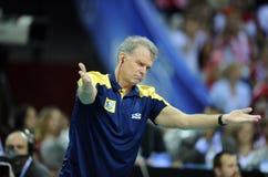 Pallavolo di FIVB Polonia Brasile Immagine Stock