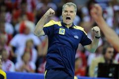 Pallavolo di FIVB Polonia Brasile Fotografie Stock