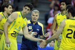 Pallavolo di FIVB Polonia Brasile Immagine Stock Libera da Diritti