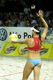 Pallavolo Maria Tsiartsiani della spiaggia Fotografia Stock