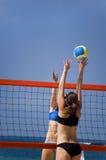 Pallavolo in spiaggia Fotografia Stock