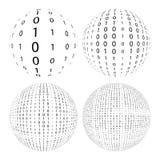 4 palle binarie illustrazione di stock