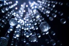 Palle blu astratte di cristallo, fondo lusso Fotografia Stock