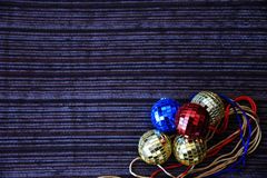 Palle brillanti della discoteca per natale Fotografie Stock Libere da Diritti