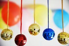 Palle brillanti della discoteca per natale Immagini Stock Libere da Diritti