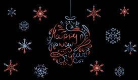 palle colorate dipinte di Natale Fotografia Stock