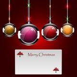 Palle colorate per il Natale E festival Fotografia Stock