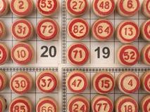 Palle con i numeri di bingo Fotografia Stock Libera da Diritti