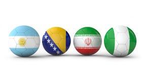 Palle con le bandiere Fotografia Stock Libera da Diritti