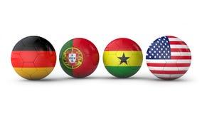 Palle con le bandiere Immagine Stock