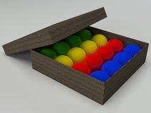 Palle da biliardo di Colorfull messe Fotografia Stock