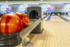 Palle da bowling Fotografie Stock