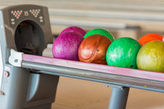 Palle da bowling Immagini Stock Libere da Diritti