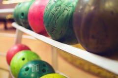 Palle da bowling della riserva Fotografia Stock Libera da Diritti