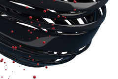 palle decorative a strisce 3D Fotografia Stock Libera da Diritti