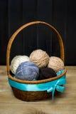 Palle del filo della lana Immagini Stock